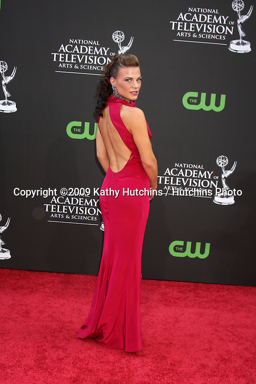 Gina Tognoni arriving at the Daytime Emmys at the Orpheum Theater in  Los Angeles, CA on August 30, 2009.©2009 Kathy Hutchins / Hutchins Photo.