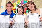 Anthony Fealy , Jillian O'Leary and Meaghan O'Carroll who received their Leaving Certificate results  in Causeway Comprehensive Secondary School on Wednesday.