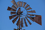 A windmill, no longer in use, was once the state of the art in wind power on the great plains, they are still an Iowa institution.