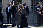 Pedro Sanchez, King Felipe VI of Spain and Queen Letizia of Spain attends to Pascua Militar at Royal Palace in Madrid, Spain. January 06, 2019. (ALTERPHOTOS/Pool)
