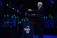 Washington, DC - March 5, 2018: U.S. Vice President Mike Pence addresses attendees of the 2018 American Israel Public Affairs Committee (AIPAC) Policy Conference at the Washington Convention Center March 5, 2018.  (Photo by Don Baxter/Media Images International)