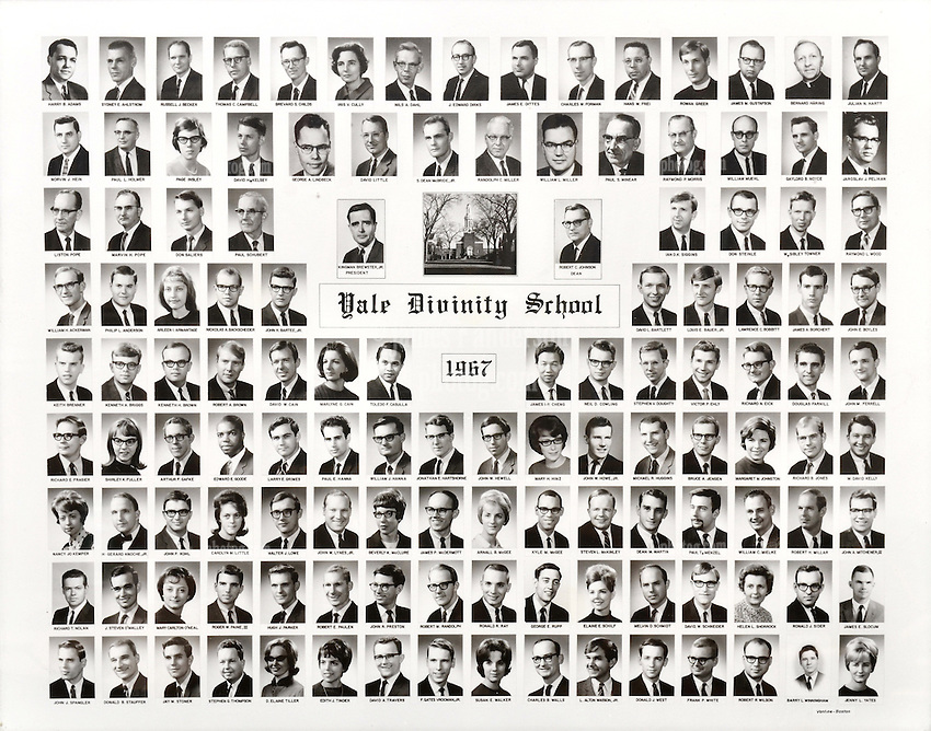 1967 Yale Divinity School Senior Portrait Class Group Photograph