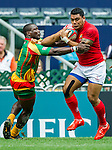 Tonga vs Guyana during the HSBC Sevens Wold Series Qualifier match as part of the Cathay Pacific / HSBC Hong Kong Sevens at the Hong Kong Stadium on 28 March 2015 in Hong Kong, China. Photo by Juan Manuel Serrano / Power Sport Images