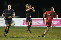 Match action during the Greene King IPA Championship match between London Scottish Football Club and Jersey Reds at Richmond Athletic Ground, Richmond, United Kingdom on 16 March 2018. Photo by David Horn.