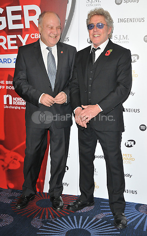 Harvey Goldsmith and Roger Daltrey at the Music Industry Trusts Awards 2016, Grosvenor House Hotel, Park Lane, London, England, UK, on Monday 07 November 2016. <br /> CAP/CAN<br /> &copy;CAN/Capital Pictures /MediaPunch ***NORTH AND SOUTH AMERICAS ONLY***