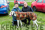 Kieran and Rory Burke from Castleisland with Walkinmyshoes, Entered in the O'Carroll-O'Connor Cup- Quilters Bar Trophy at the 88th Annual Meeting of the  Lixnaw Coursing Club on Sunday