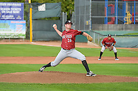 Idaho Falls Chukars starting pitcher Carter Hope (26) delivers a pitch to the plate against the Ogden Raptors in Pioneer League action at Lindquist Field on August 26, 2015 in Ogden, Utah. Ogden defeated the Chukars 5-1.  (Stephen Smith/Four Seam Images)