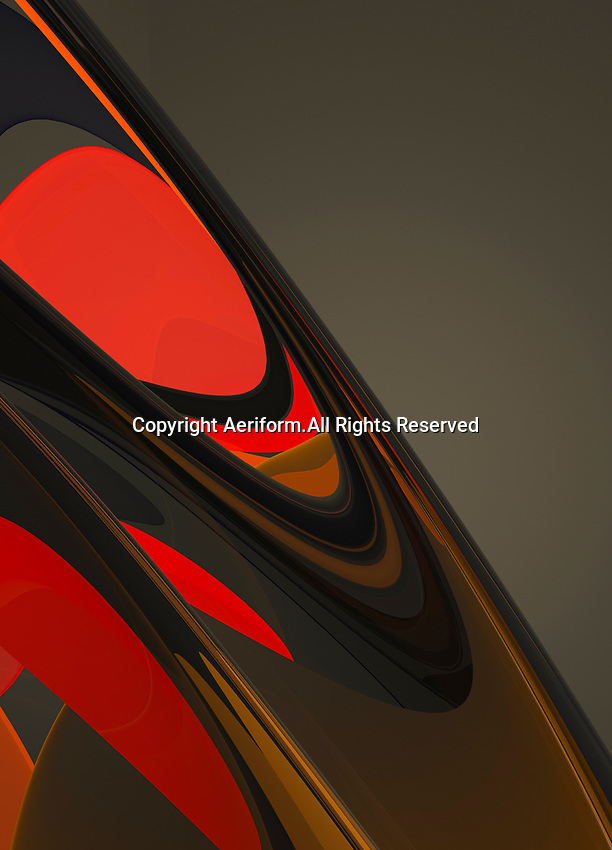 Glowing red and brown abstract pattern
