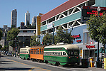 Street cars near Fisherman's Wharf