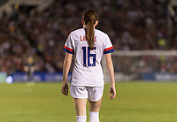 PASADENA, CA - AUGUST 4: Rose Lavelle #16 walks up the field during a game between Ireland and USWNT at Rose Bowl on August 3, 2019 in Pasadena, California.