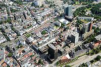 St. Pauli: EUROPA, DEUTSCHLAND, HAMBURG, (EUROPE, GERMANY), 08.07.2012:St. Pauli. Die Reeperbahn ist die zentrale Strasse im Hamburger Vergnuegungs- und Rotlichtviertel St. Pauli. Sie ist etwa 930 Meter lang und verlaeuft vom Millerntor in Richtung Westen bis hin zum Nobistor (Hamburg-Altona), wo sie in die Koenigstraße uebergeht. Sie gilt als suendigste Meile der Welt...Stadtteil, St. Pauli, Reeperbahn, am Tag, am Tage, am Tage Tag tagsueber, Blick ueber Hamburg, Buerogebaeude, Buerohaeuser, City, Meile, Erlebniss, Wohnen, Bezirk Kiez, Hamburger, Luftaufnahme, Luftaufnahmen, Luftbild, Luftbilder, Luftfoto, Luftfotos, Luftphoto, Luftphotos, Vogelperspektive, Vogelperspektiven