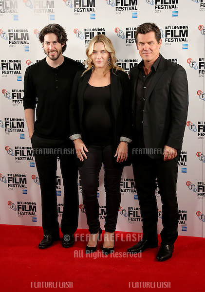 Jason Reitman, Kate Winslet, Josh Brolin at the BFI London Film Festival 2013 - Labour Day- photocall, London. 14/10/2013 Picture by: Henry Harris / Featureflash