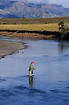 Andy Hermosilla on the Rio Malleo in Patagonia
