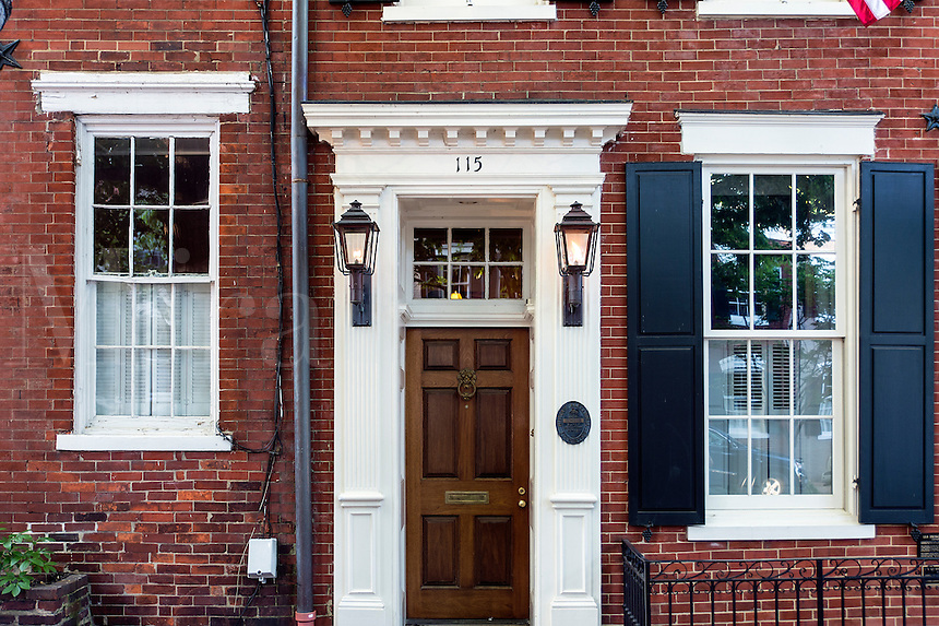 Town house in historic Old Town, Alexandria, Virginia, USA