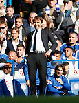 Chelsea's Antonio Conte looks on during the premier league match at Stamford Bridge Stadium, London. Picture date 17th September 2017. Picture credit should read: David Klein/Sportimage