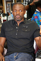 PHILADELPHIA, PA - AUGUST 19 :  Sean Patrick Thomas pictured at Maxamillion's Gentlemen's Quarters Barber Parlor for the Democratic Philadelphia voter registration launch in Philadelphia, Pa on August 19, 2016  photo credit Star Shooter/MediaPunch