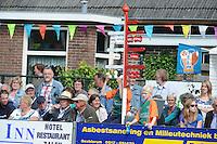 KAATSEN: DRONRIJP: 01-06-2014, De Eise Eisinga partij, Winnaars Johan van der Meulen. Renze Hiemstra en Hylke Bruinsma. Johan v.d. Meulen werd koning, ©foto Martin de Jong