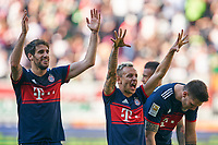 RAFINHA (FCB 13)  Javi MARTINEZ, FCB 8  celebration, <br /> FC AUGSBURG -  FC BAYERN MUENCHEN 1-4<br /> Football 1. Bundesliga , Augsburg,07.04.2018, 29. match day,  2017/2018, 1.Liga, 1.Bundesliga, <br />  *** Local Caption *** © pixathlon<br /> Contact: +49-40-22 63 02 60 , info@pixathlon.de