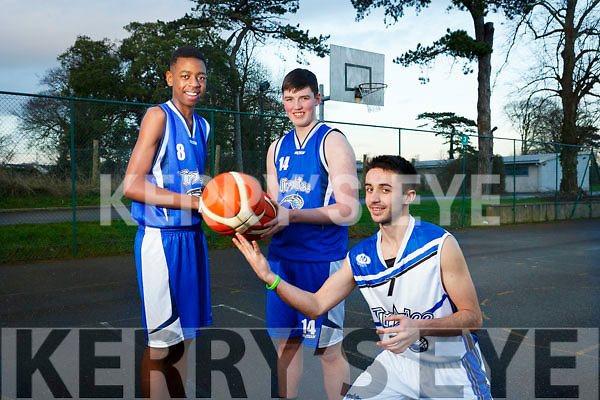 Tralee Imperials is hosting a Christmas Basketball Marathon at the Mercy Mounthawk gym from 9am to 9pm on December 9 in aid of Kerry Hospice Foundation. Picture Leeroy Odiah, Daire Kennelly, Raul Venczel