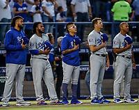 Acciones del partido de beisbol de los Dodgers de Los Angeles contra Padres de San Diego, durante el primer juego de la serie las Ligas Mayores del Beisbol en Monterrey, Mexico el 4 de Mayo 2018.<br /> (Photo: Luis Gutierrez)