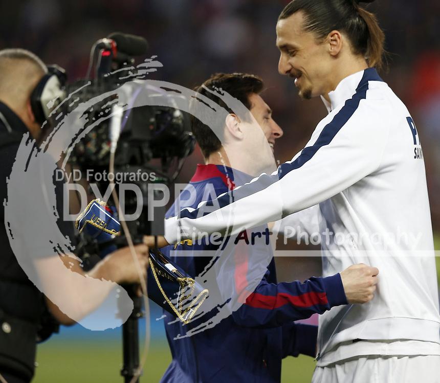 Lionel Messi (Barcelona), Zlatan Ibrahimovic (PSG)