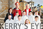 The pupils from Holymount NS with Bishop Ray Browne and Fr Pat O'Donnell after they made their Confirmation in St Joesph's church Rathmore on Tuesday front row l-r:Jordan Mason, Aoife O'Donoghue, Natalie Mason, Adam Carroll. Back row: Aoife Golden, Killian Cronin, Michael Murphy, Arthur Moynihan and PJ Mason