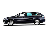 Driver side profile view of 2012 Peugeot 508 SW Allure Wagon Stock Photo