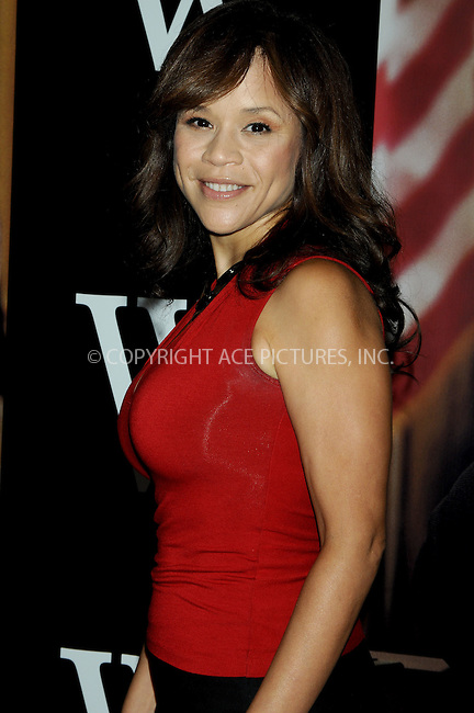 WWW.ACEPIXS.COM . . . . .  ....October 14, 2008. New York City.....Actress Rosie Perez attends the 'W.' New York Premiere held at the Ziegfeld Theater on October 14, 2008 in New York City.......Please byline: AJ Sokalner - ACEPIXS.COM.... *** ***..Ace Pictures, Inc:  ..Philip Vaughan (646) 769 0430..e-mail: info@acepixs.com..web: http://www.acepixs.com