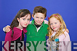 Three children who will celebrate their Eight birthdays on the 29th of February front from left: Emma Heenehan, Eddie McCarthy and Emma Dooner.