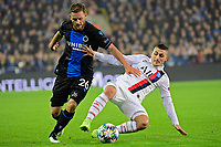 Mats Rits midfielder of Club Brugge battles for the ball with Marco Verratti midfielder of PSG  <br /> Bruges 22-10-2019 <br /> Club Brugge - Paris Saint Germain PSG <br /> Champions League 2019/2020<br /> Foto Panoramic / Insidefoto <br /> Italy Only