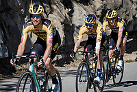 Primoz Roglic (SVK/Jumbo-Visma)  & teammates smiling confidently down the Col de Turini<br /> <br /> Stage 2 from Nice to Nice (186km)<br /> <br /> 107th Tour de France 2020 (2.UWT)<br /> (the 'postponed edition' held in september)<br /> <br /> ©kramon