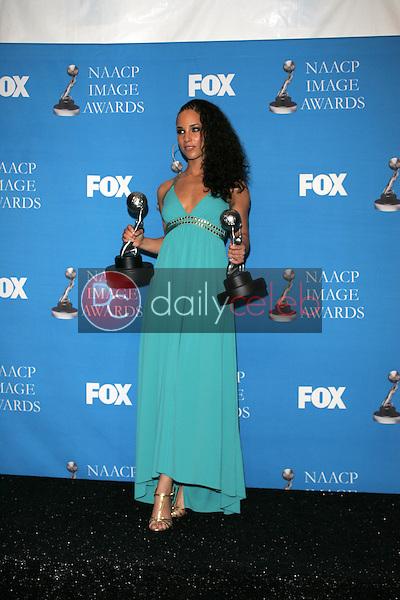 Alicia Keys<br />in the Press Room at the 37th Annual NAACP Image Awards. Shrine Auditorium, Los Angeles, CA. 02-25-06<br />Scott Kirkland/DailyCeleb.Com 818-249-4998