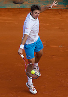 Stanlinas WAWRINKA (SUI) against Novak DJOKOVIC (SRB) in the third round. Novak Djokovic beat Stanlinas Wawrinka 6-4 6-4..International Tennis - 2010 ATP World Tour - Masters 1000 - Monte-Carlo Rolex Masters - Monte-Carlo Country Club - Alpes-Maritimes - France..© AMN Images, Barry House, 20-22 Worple Road, London, SW19 4DH.Tel -  + 44 20 8947 0100.Fax - + 44 20 8947 0117