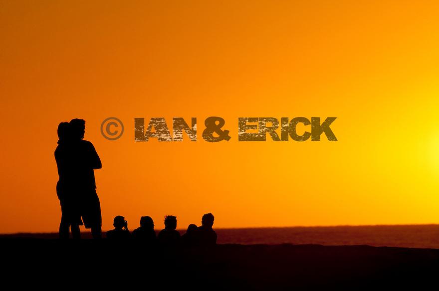 People watching the sunset at Jake Pt in Kalbarri, Western Australia.