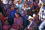 Crowd watch performers, Solola fiesta, Guatemala, central America