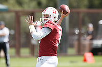 Stanford, CA - April 13, 2019: K.J. Costello during the Spring Football game at Cagan Stadium on Saturday.<br /> <br /> The Defense won 20-14.