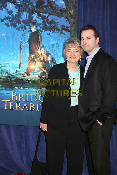"KATHERINE PATERSON, author & DAVID PATERSON, screenwriter.""Bridge to Terabithia"" Los Angeles Premiere at the El Capitan Theatre, Hollywood, California, USA,.3 February 2007..half length.CAP/ADM/BP.©Byron Purvis/AdMedia/Capital Pictures."
