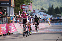Tom Dumoulin (NED/Sunweb) crosses the finish line after losing time up the final climb that costs him his Maglia Rosa to Nairo Quintana<br /> <br /> Stage 19: San Candido/Innichen › Piancavallo (191km)<br /> 100th Giro d'Italia 2017
