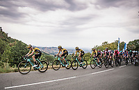 With 1 km to go, Team Jumbo-Visma leads the dance with Wout van Aert (BEL/Jumbo - Visma) & Primoz Roglic (SVK/Jumbo-Visma) is prime positions <br /> <br /> Stage 1: Clermont-Ferrand to Saint-Christo-en-Jarez (218km)<br /> 72st Critérium du Dauphiné 2020 (2.UWT)<br /> <br /> ©kramon