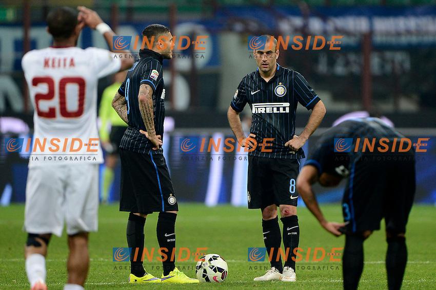 Delusione Mauro Icardi, Rodrigo Palacio Inter<br /> Milano 25-04-2015 Stadio Giuseppe Meazza - Football Calcio Serie A Inter - Roma. Foto Giuseppe Celeste / Insidefoto