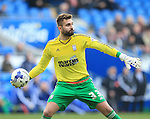 Ipswich's Bartosz Bialkowski in action during the Sky Bet Championship League match at The Cardiff City Stadium.  Photo credit should read: David Klein/Sportimage via PA Images