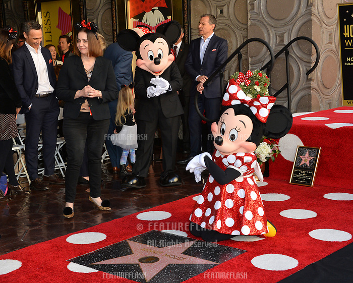 Minnie Mouse &amp; Mickey Mouse at the Hollywood Walk of Fame Star Ceremony honoring Disney character Minnie Mouse, Los Angeles, USA 22 Jan. 2018<br /> Picture: Paul Smith/Featureflash/SilverHub 0208 004 5359 sales@silverhubmedia.com