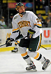 7 February 2009: University of Vermont Catamount defenseman Lance Herrington, a Freshman from Bow, NH, in action against the Providence College Friars during the second game of a weekend series at Gutterson Fieldhouse in Burlington, Vermont. The Catamounts swept the 2-game series notching 4-1 wins in both games. Mandatory Photo Credit: Ed Wolfstein Photo