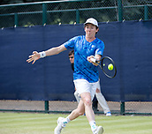 June 15th 2017, Nottingham, England; ATP Aegon Nottingham Open Tennis Tournament day 6;  John-Patrick Smith of Australia wins the first set on a tie break against fellow countryman John Millman
