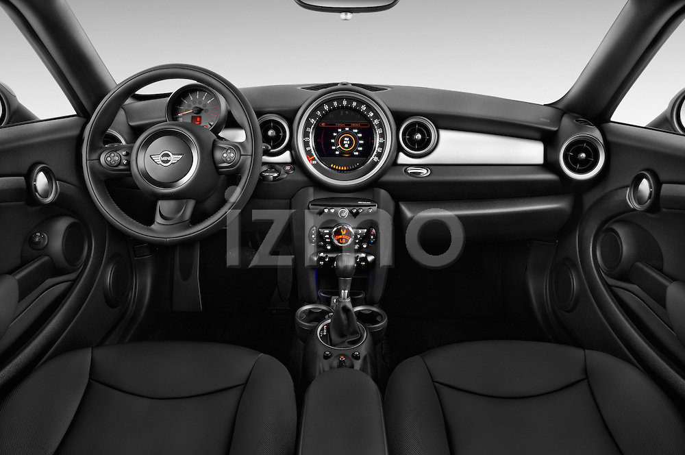 Stock photo of straight dashboard view of a 2015 MINI Mini Cooper 2 Door Coupe Dashboard
