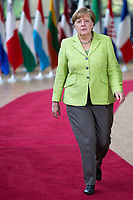 La Chanceli&egrave;re d'Allemagne F&eacute;d&eacute;rale Angela Merkel lors du Sommet Europ&eacute;en &agrave; Bruxelles.<br /> Belgique, Bruxelles, 22 juin 2017.<br /> German Chancellor Angela Merkel attends the European Council in Brussels.<br /> Belgium, Brussels, 22 June, 2017.