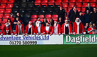 Lincoln City fans enjoy the pre-match atmosphere<br /> <br /> Photographer Andrew Vaughan/CameraSport<br /> <br /> The EFL Sky Bet League Two - Crewe Alexandra v Lincoln City - Wednesday 26th December 2018 - Alexandra Stadium - Crewe<br /> <br /> World Copyright &copy; 2018 CameraSport. All rights reserved. 43 Linden Ave. Countesthorpe. Leicester. England. LE8 5PG - Tel: +44 (0) 116 277 4147 - admin@camerasport.com - www.camerasport.com