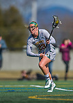 30 March 2016: University of Vermont Catamount Midfielder Vanessa VanderZalm, a Senior from Pelham, Ontario, in first half action against the Manhattan College Jaspers at Virtue Field in Burlington, Vermont. The Lady Cats defeated the Jaspers 11-5 in non-conference play. Mandatory Credit: Ed Wolfstein Photo *** RAW (NEF) Image File Available ***