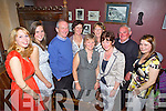 Enjoying an end of year night out was staff members from Lisselton NS, pictured here last Friday night in McMunn's Restaurant, Ballybunion, pictured l-r: Lisa Walsh, Maria McEllistrim, Michael McEllistrim, Noreen Brosnan, Mary Crickard, Regina Walsh, Eleanor Kennelly, Jackie Houlihan and Fionnuala Fogarty..