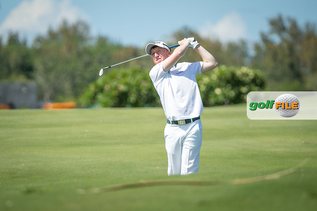 Gavin Moynihan (IRL) during the 2nd round of the AfrAsia Bank Mauritius Open, Four Seasons Golf Club Mauritius at Anahita, Beau Champ, Mauritius. 30/11/2018<br /> Picture: Golffile | Mark Sampson<br /> <br /> <br /> All photo usage must carry mandatory copyright credit (© Golffile | Mark Sampson)